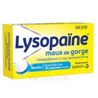 LysopaÏne Comprimés à Sucer Maux De Gorge Sans Sucre 2t/18 à Saint-Avold
