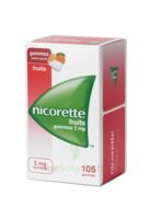 Nicorette 2 Mg Gomme à Mâcher Médicamenteuse Sans Sucre Fruits Plq/105 à Saint-Avold
