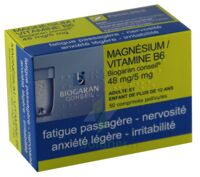MAGNESIUM/VITAMINE B6 BIOGARAN CONSEIL 48 mg/5 mg, comprimé pelliculé à Saint-Avold