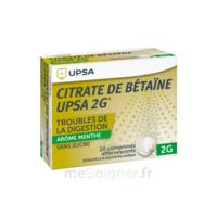 Citrate de Bétaïne UPSA 2 g Comprimés effervescents sans sucre menthe édulcoré à la saccharine sodique T/20 à Saint-Avold