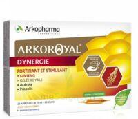 Arkoroyal Dynergie Ginseng Gelée Royale Propolis Solution Buvable 20 Ampoules/10ml à Saint-Avold