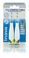 Inava Brossettes Tri Compact étroit  012 Noir 0,6mm/ Bleu 0,8mm/ Jaune 1mm
