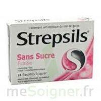STREPSILS FRAISE SANS SUCRE, pastille édulcorée à l'isomalt, au maltitol et à la saccharine sodique à Saint-Avold
