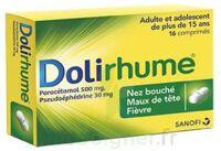 DOLIRHUME PARACETAMOL ET PSEUDOEPHEDRINE 500 mg/30 mg, comprimé à Saint-Avold