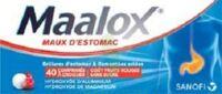 MAALOX MAUX D'ESTOMAC HYDROXYDE D'ALUMINIUM/HYDROXYDE DE MAGNESIUM 400 mg/400 mg SANS SUCRE FRUITS ROUGES, comprimé à croquer édulcoré à la saccharine sodique, au sorbitol et au maltitol à Saint-Avold