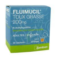 FLUIMUCIL EXPECTORANT ACETYLCYSTEINE 200 mg SANS SUCRE, granulés pour solution buvable en sachet édulcorés à l'aspartam et au sorbitol à Saint-Avold