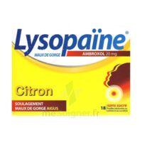LYSOPAÏNE MAUX DE GORGE AMBROXOL CITRON 20 mg SANS SUCRE, pastille édulcorée au sorbitol et au sucralose à Saint-Avold