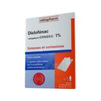 DICLOFENAC RATIOPHARM CONSEIL 1 %, emplâtre médicamenteux à Saint-Avold