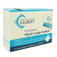 ALCOOL A USAGE MEDICAL GILBERT 2,5 ml, compresse imprégnée à Saint-Avold