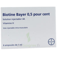 BIOTINE BAYER 0,5 POUR CENT, solution injectable I.M. à Saint-Avold