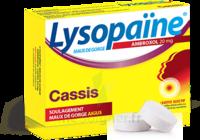 LYSOPAÏNE MAUX DE GORGE AMBROXOL CASSIS 20 mg SANS SUCRE, pastille édulcorée au sorbitol et au sucralose à Saint-Avold