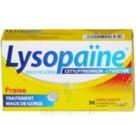LYSOPAÏNE MAUX DE GORGE CETYLPYRIDINIUM LYSOZYME FRAISE SANS SUCRE, comprimé à sucer édulcoré au sorbitol et à la saccharine à Saint-Avold