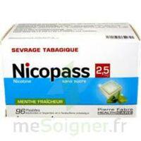 Nicopass 2,5 Mg Pastille Menthe Fraîcheur Sans Sucre Plq/96 à Saint-Avold