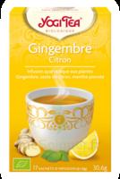 Yogi Tea Tisane Ayurvédique Gingembre Citron Bio 17 Sachets/1,8g à Saint-Avold