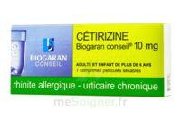 CETIRIZINE BIOGARAN CONSEIL 10 mg, comprimé pelliculé sécable à Saint-Avold