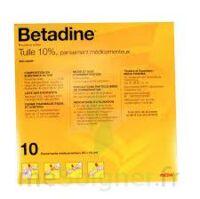 Betadine Tulle 10 % Pans Méd 10x10cm 10sach/1 à Saint-Avold