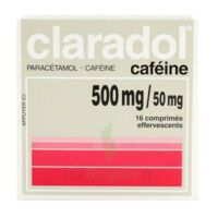 Claradol Cafeine 500 Mg/50 Mg, Comprimé Effervescent à Saint-Avold