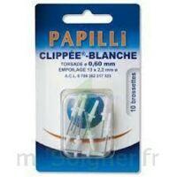 PAPILLI - CLIPPEE, blanc, sachet 10 à Saint-Avold
