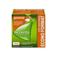 Nicorette 2 Mg Gomme à Mâcher Médicamenteuse Sans Sucre Fruits Plq/210 à Saint-Avold