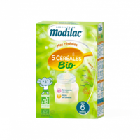 Modilac Céréales Farine 5 Céréales bio à partir de 6 mois B/230g à Saint-Avold