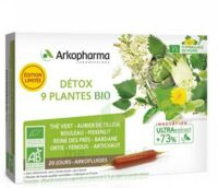 Arkofluide Bio Ultraextract Solution buvable détox 9 Plantes 20 Ampoules/10ml à Saint-Avold