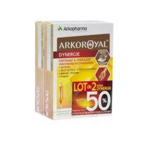 Arkoroyal Dynergie Ginseng Gelée royale Propolis Solution buvable 2B/20 Ampoules/10ml à Saint-Avold