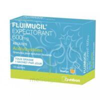 FLUIMUCIL EXPECTORANT ACETYLCYSTEINE 600 mg Glé s buv adultes 10Sach à Saint-Avold