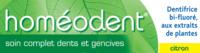 Boiron Homéodent Soin Complet Dents Et Gencives Pâte Dentifrice Citron 2t/75ml à Saint-Avold