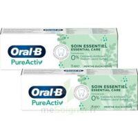 Oral B Pureactiv Dentifrice Soin Essentiel 2t/75ml à Saint-Avold